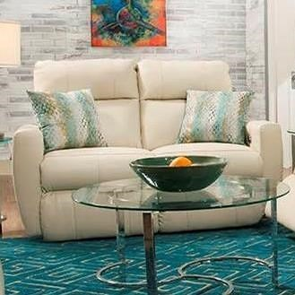 Southern Motion Knock Out Double Reclining Loveseat with 2 Pillows