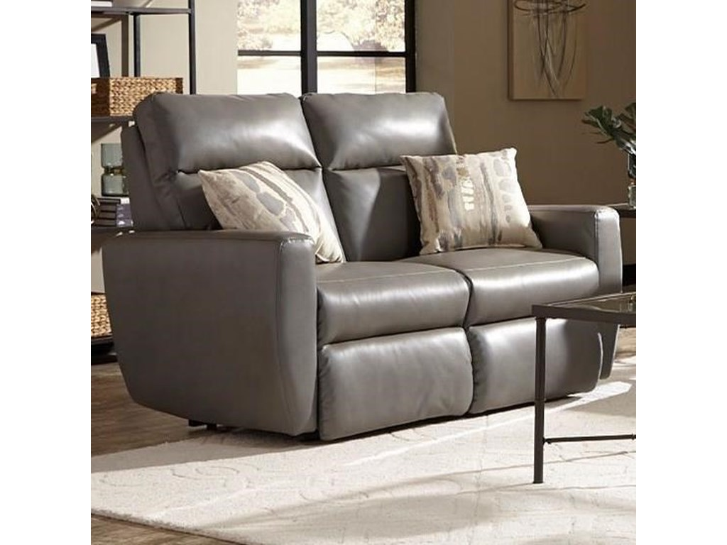 Southern Motion Knock OutDouble Reclining Loveseat w/ Power Headrest