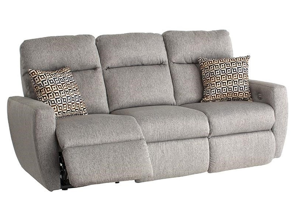 Southern Motion Knock Outreclining Sofa With Pillows Headrest