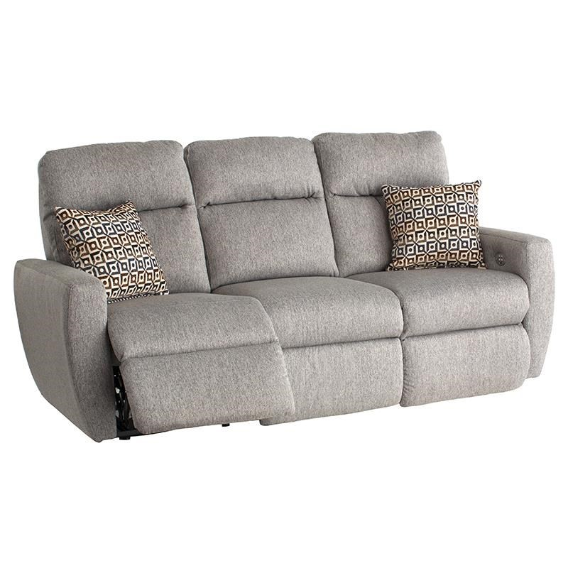 Southern Motion Knock OutReclining Sofa With Pillows U0026 Power Headrest