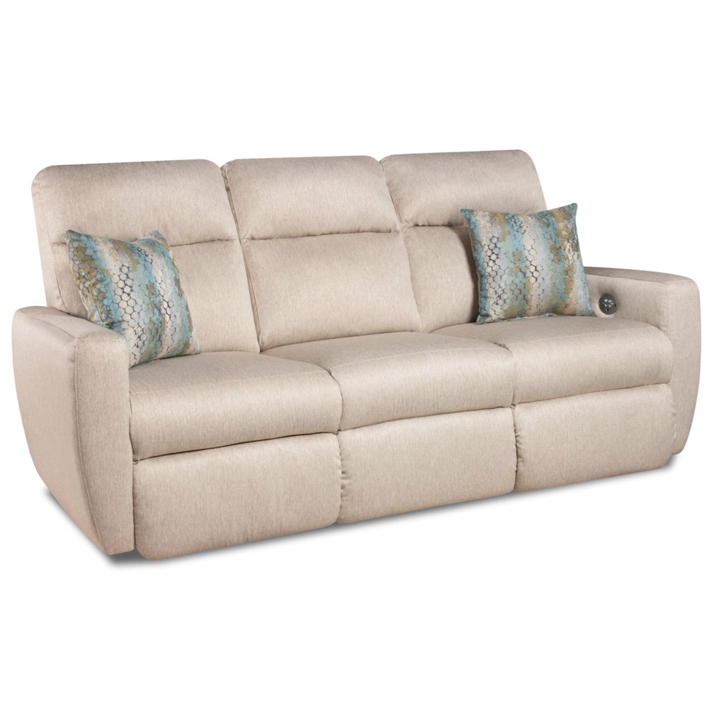 Southern Motion Knock Out Double Reclining Sofa With 2 Pillows And Power  Headrests - Becker Furniture World - Reclining Sofa