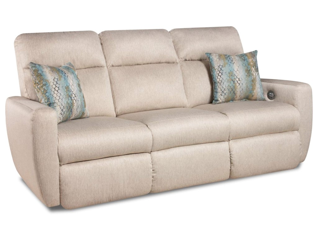 Southern Motion Knock Out 865 62p Double Reclining Sofa With 2