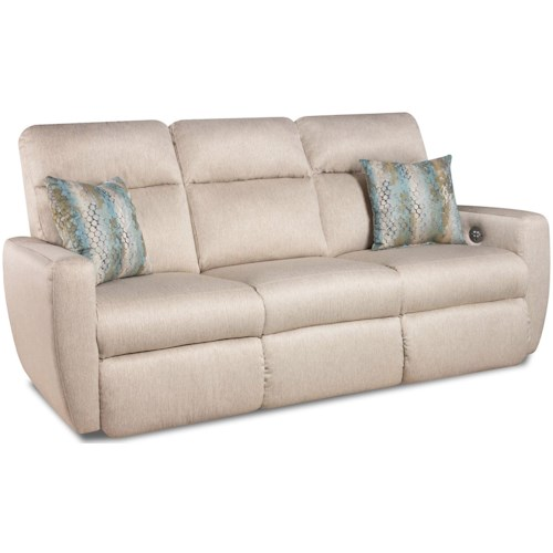 Southern Motion Knock Out Double Reclining Sofa with 2 Pillows and Power Headrests