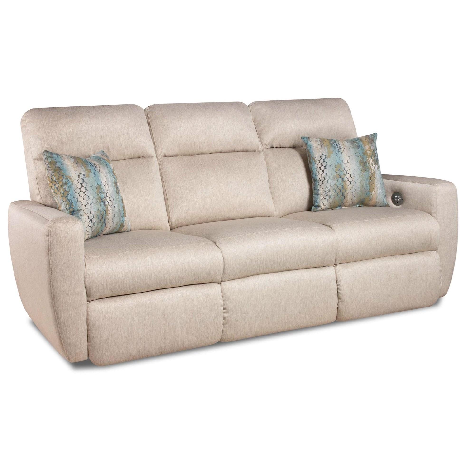 Merveilleux Southern Motion Knock OutReclining Sofa With Pillows U0026 Power Headrest