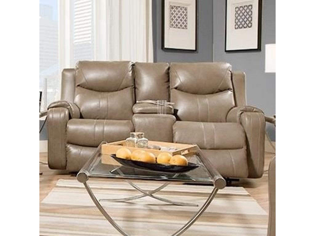 Southern Motion Marvel 881 28 Double Reclining Sofa With Console
