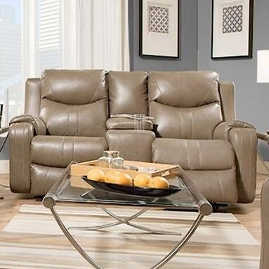 Southern Motion Marvel Double Reclining Sofa With Console Bullard