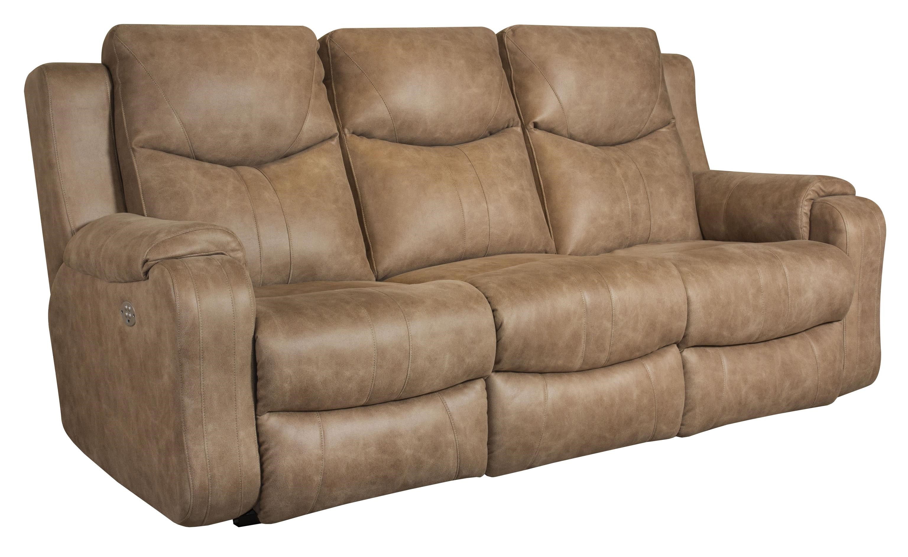 Southern Motion Marvel Double Reclining Sofa with Power Headrests - Colderu0026#39;s Furniture and ...