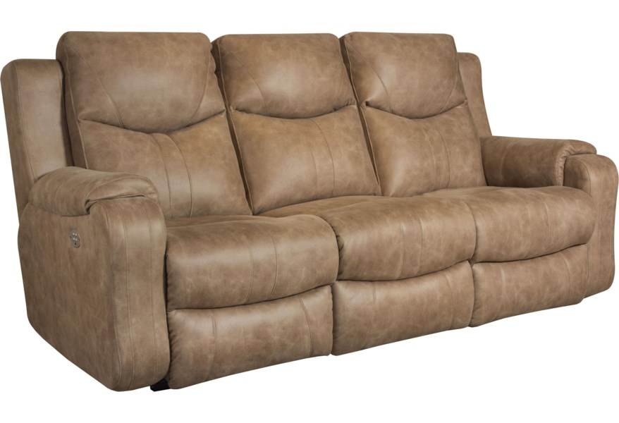 Marvel Double Reclining Contemporary Sofa by Southern Motion at Furniture  and ApplianceMart