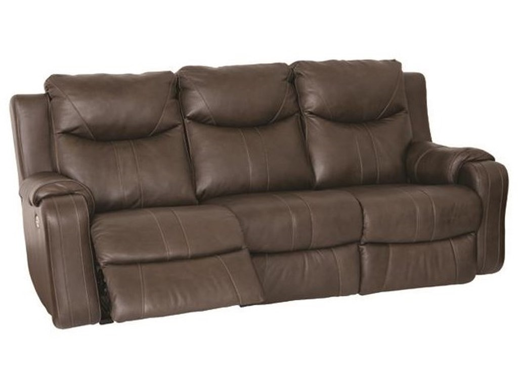 Southern Motion MarvelDouble Reclining Sofa with Power Headrests