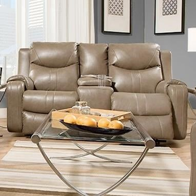 Southern Motion Marvel Double Reclining Sofa with Console and Power Headrests