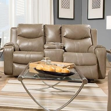 Southern Motion MarvelReclining Sofa With Console U0026 Power Headrest ...