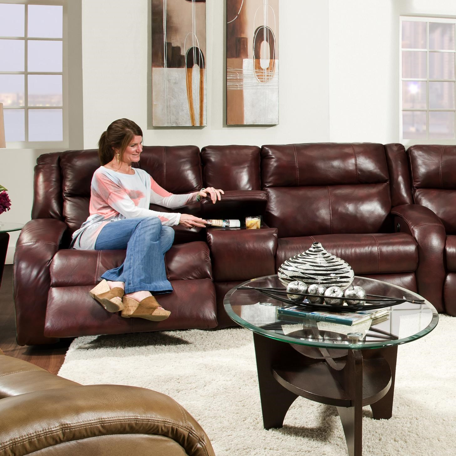 Merveilleux Southern Motion Maverick Console Sofa With Contemporary Style