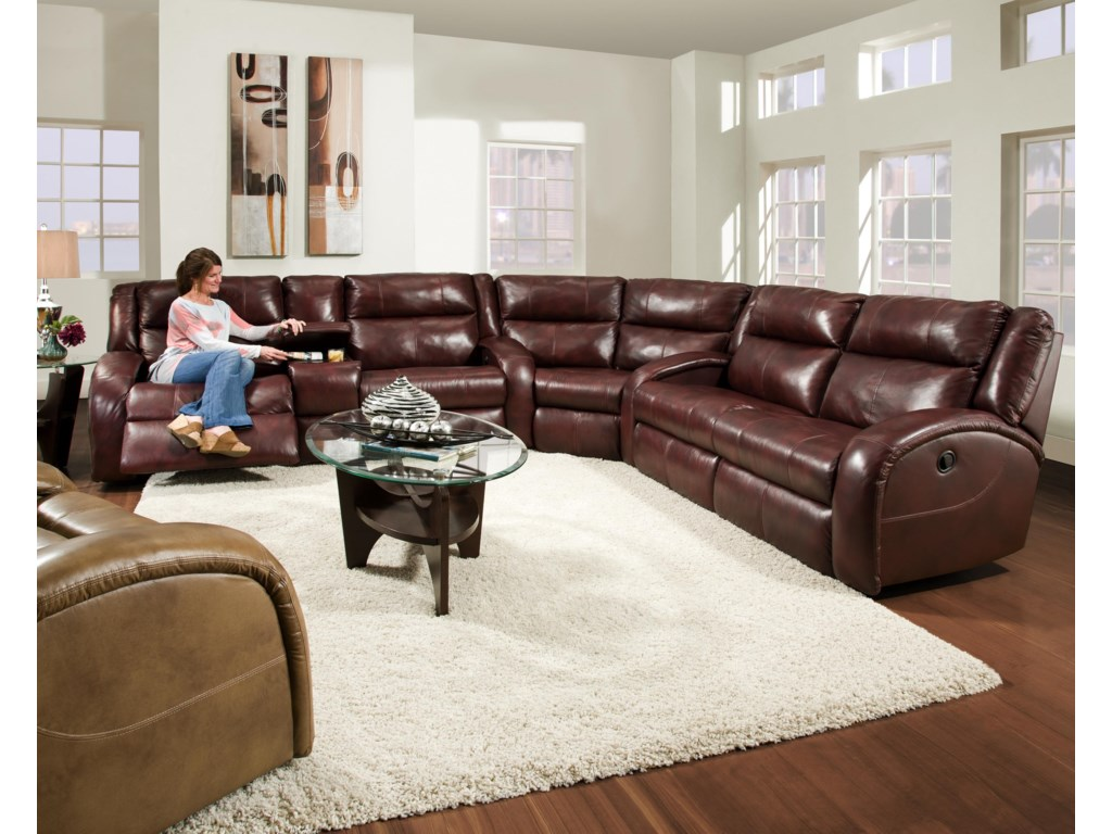 Southern Motion MaverickLayflat Power Reclining Sofa