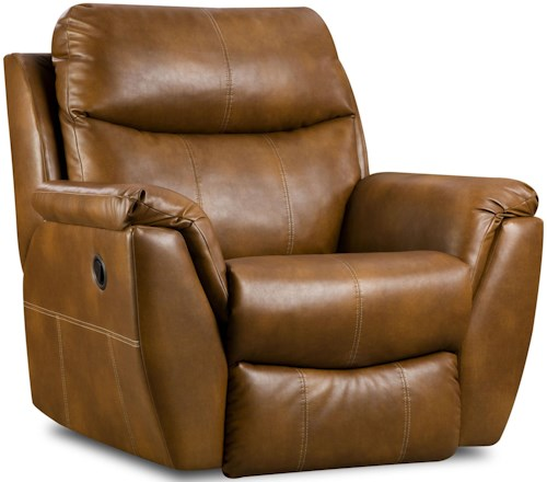 Southern Motion Monaco Power Lay Flat Recliner with Pillow Arms