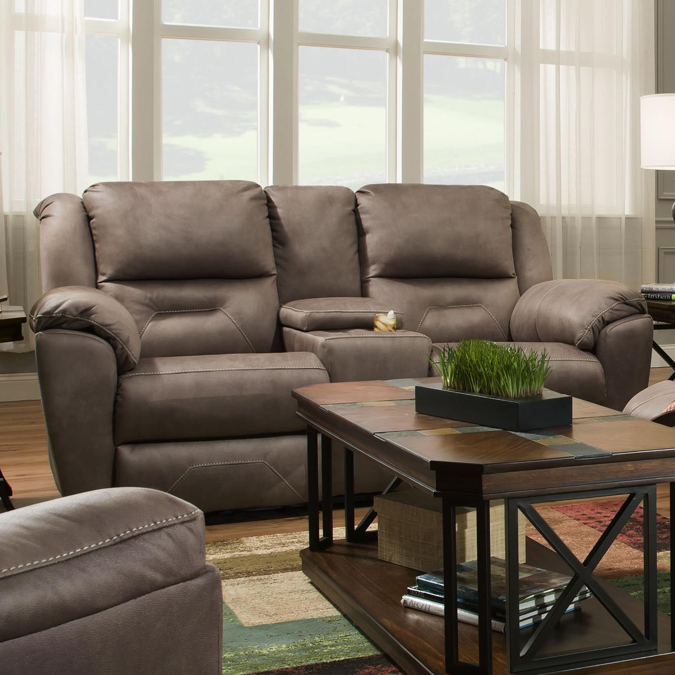 southern motion pandora 751 78p double reclining console sofa with rh dunkandbright com double reclining console sofa reclining sofa console set