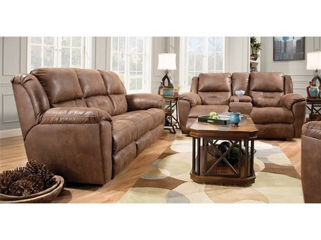 Southern Motion PandoraDouble Reclining Console Sofa