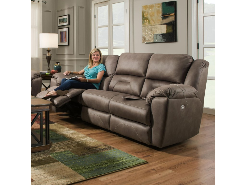 Southern Motion PandoraReclining Sofa with Power Headrests
