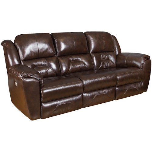 Southern Motion Pandora Reclining Sofa With 2 Seats That Recline And Headrests