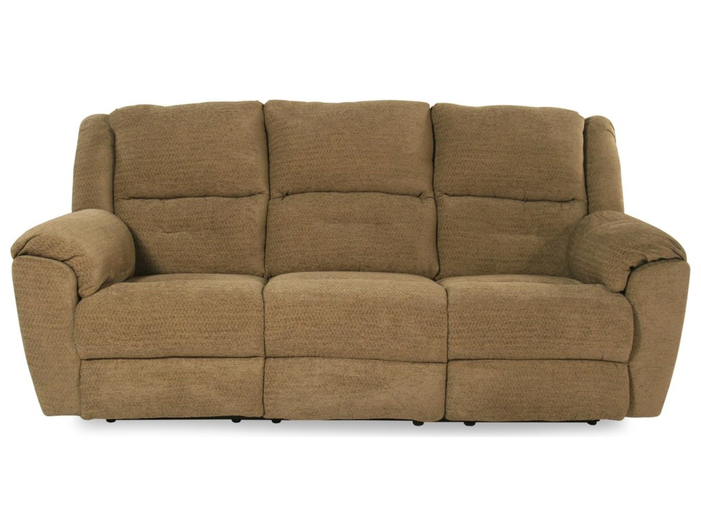 Cashmere Reclining Sofa With Power Headrests