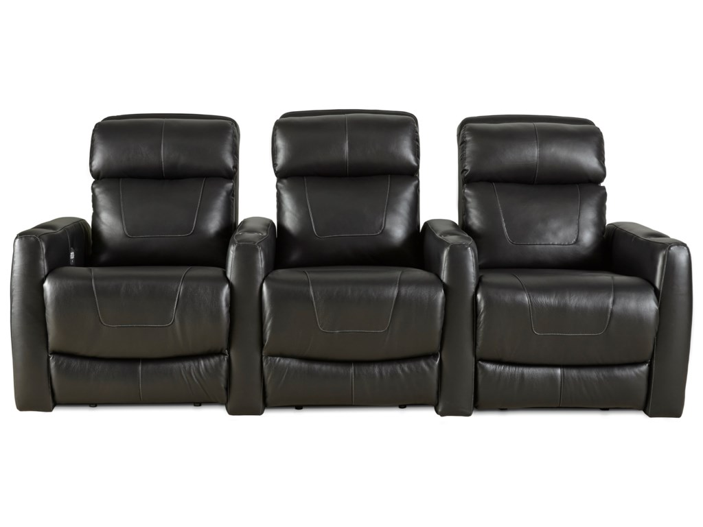 Design to Recline PremierReclining Theater Seating with 3 Seats