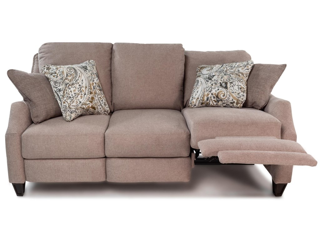Design to Recline BelliniDouble Reclining Sofa w/ Pillows