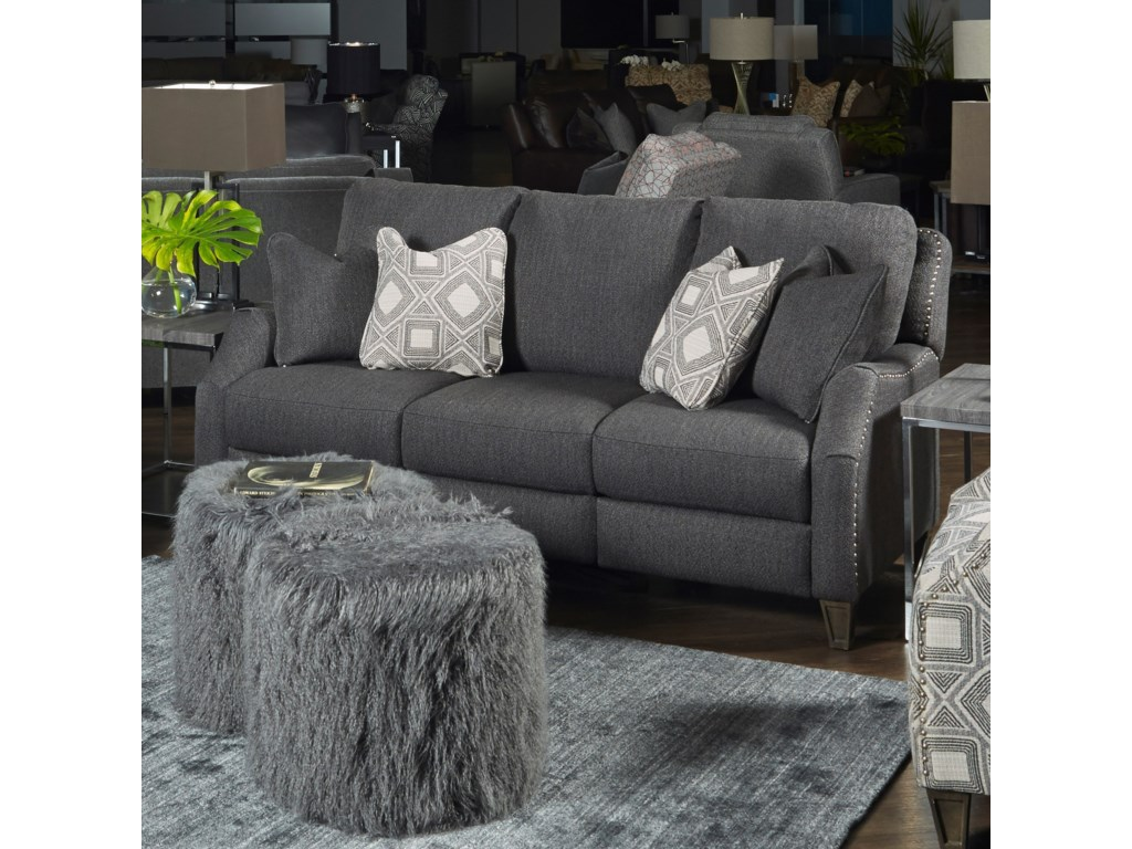 Southern Motion Primrose ParkDouble Reclining PowerPlus Sofa with Pillows