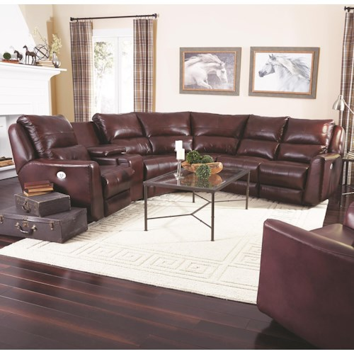 Southern Motion Producer Reclining Sectional Sofa With 5 Seats No Chaise