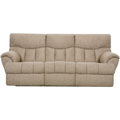 Southern Motion Re-Fueler  Powerized Double Reclining Sofa with Two End Recliners and Padded Footrests