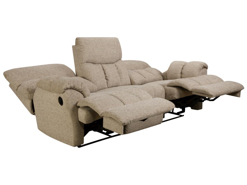 Southern Motion Re-Fueler Powerized Double Reclining Sofa