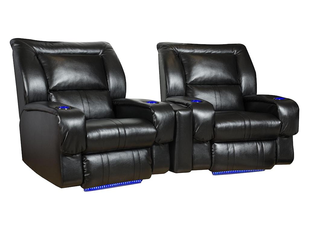 Design to Recline RoxieTheater Seating Arrangement (Wall Hugger)