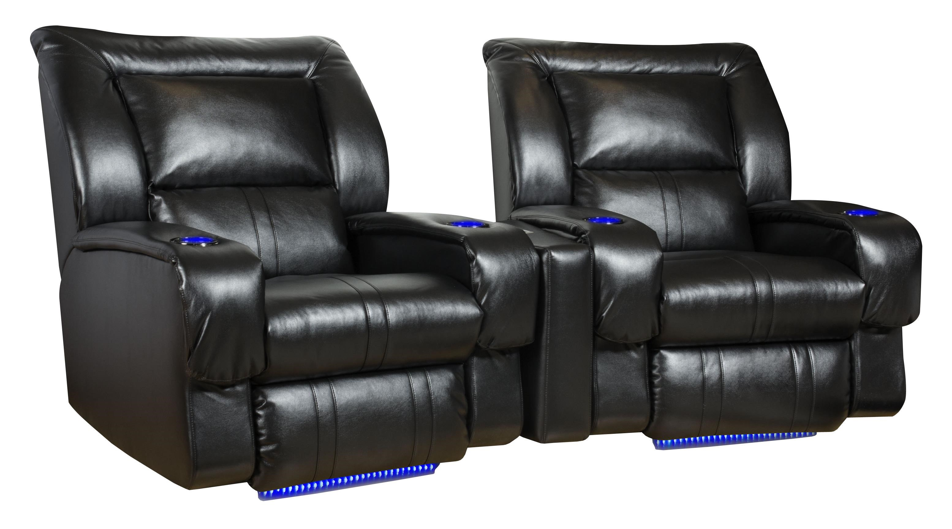 Design To Recline Roxie Theater Seating Arrangement (Wall Hugger) With 2  Seats, LED