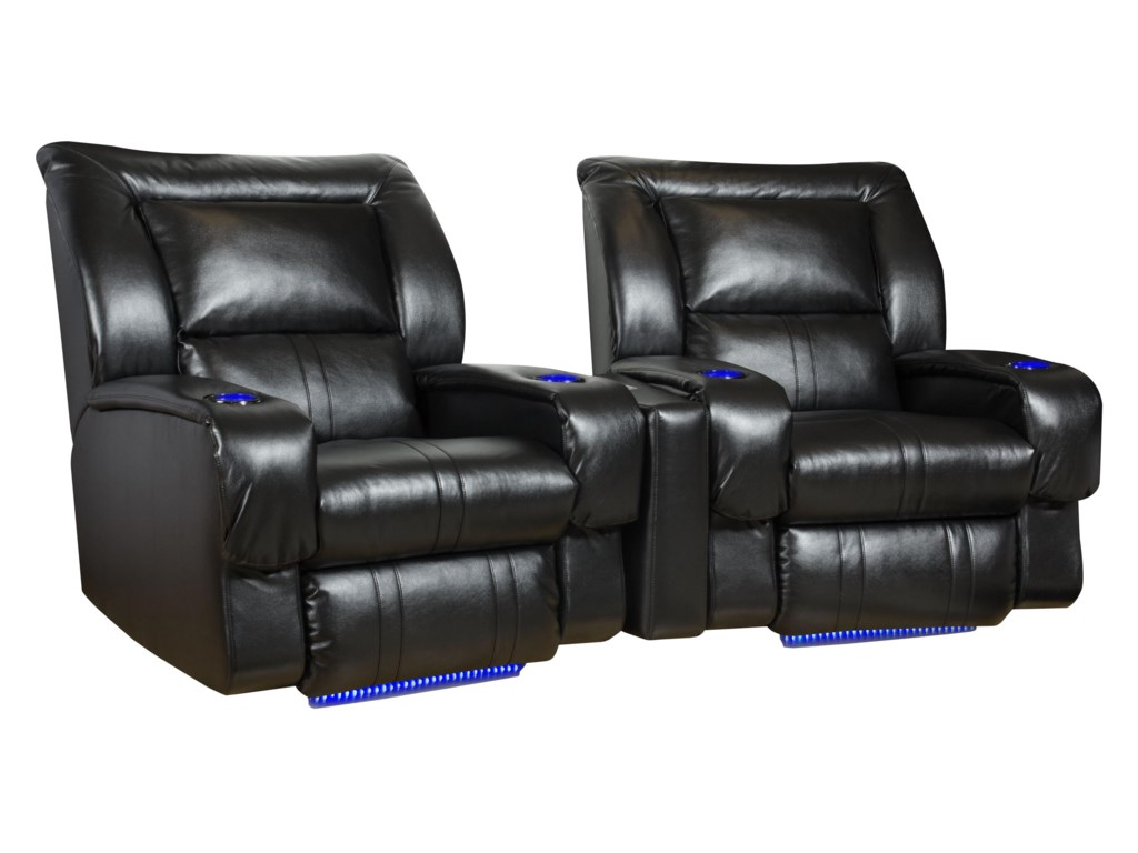 Southern Motion RoxieLay-Flat Recliner w/ Lights & Cup-Holders