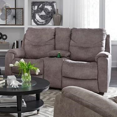 Southern Motion Royal Flush Double Reclining Console Sofa With Power