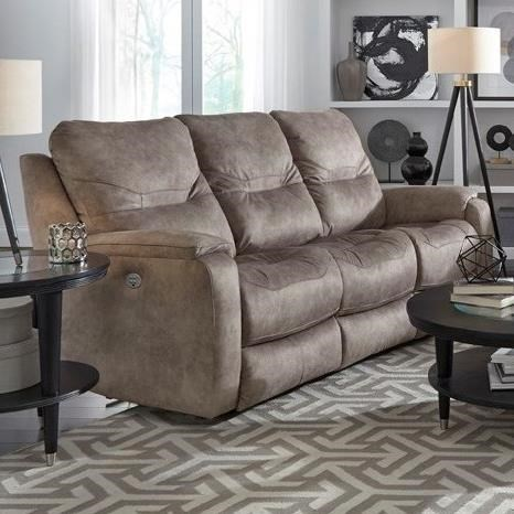 Southern Motion Royal FlushDbl Reclining Sofa W/ Pwr Headrests U0026 Lumbar ...