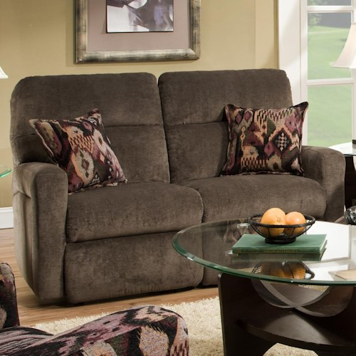 Belfort Motion Parker Double Reclining Loveseat for Contemporary Family Rooms