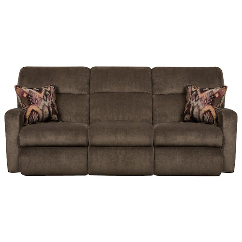 Belfort Motion Parker Contemporary Styled Double Reclining Sofa for Family Rooms