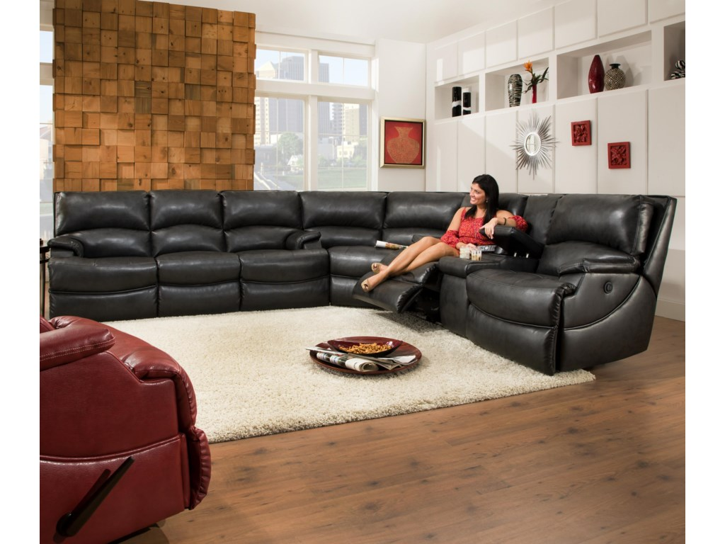 Shown as Modular Component in Sectional Sofa Configuration. Reclining Sofa Shown May Not Represent Exact Features Indicated.