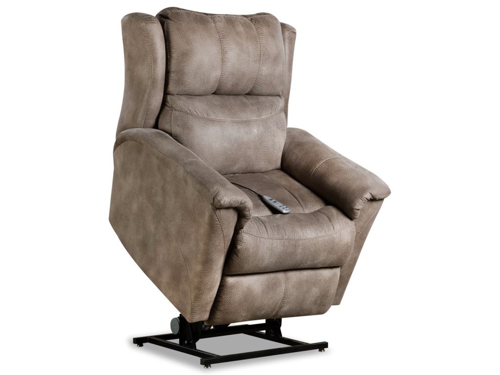 Design to Recline ShimmerPower Headrest Lift Recliner w/ SoCozi