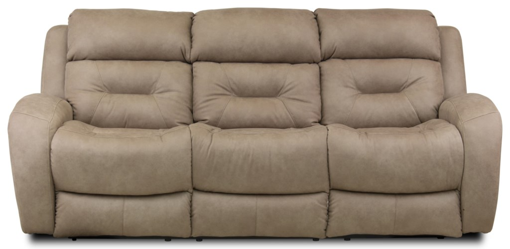 Southern Motion Showcase Double Reclining Sofa With Power Headrest