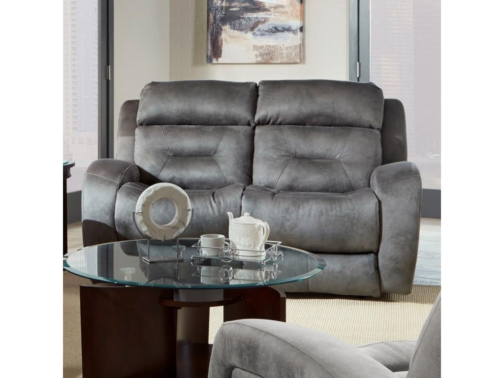 electra only power weekends reclining loveseat gray furniture