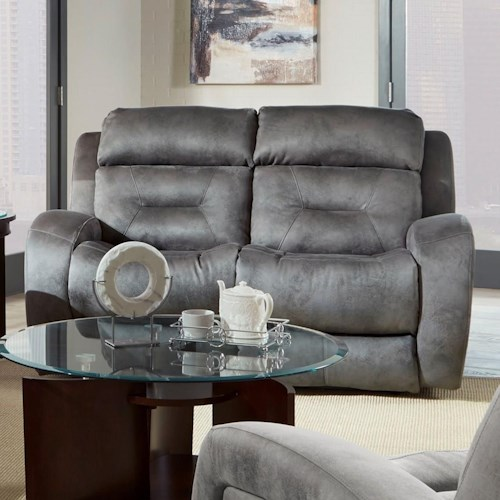 Southern Motion Showcase Double Reclining Loveseat with Power Headrest