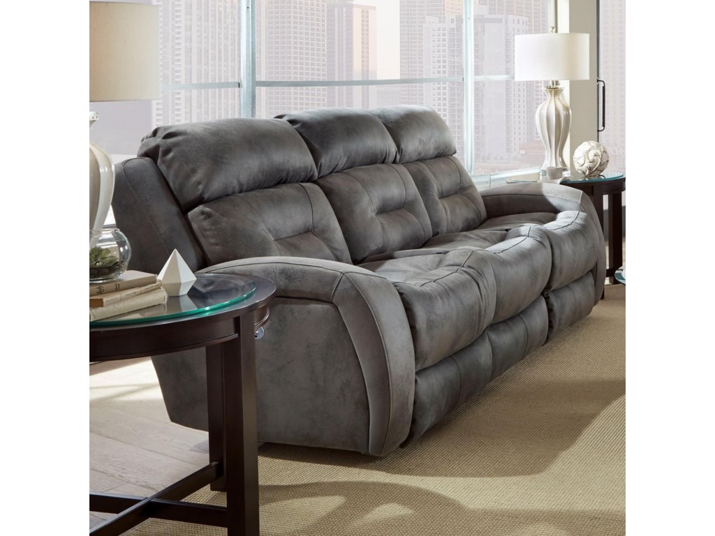 Southern Motion ShowcaseDouble Reclining Sofa with Power Headrest