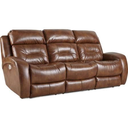 Recline Sofa w/ Pwr Headrest & Drop Table