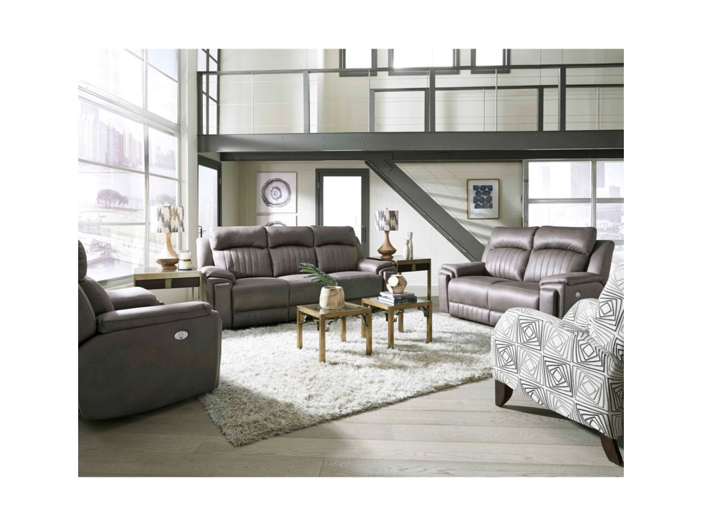 Southern Motion Silver ScreenPower Headrest Sofa