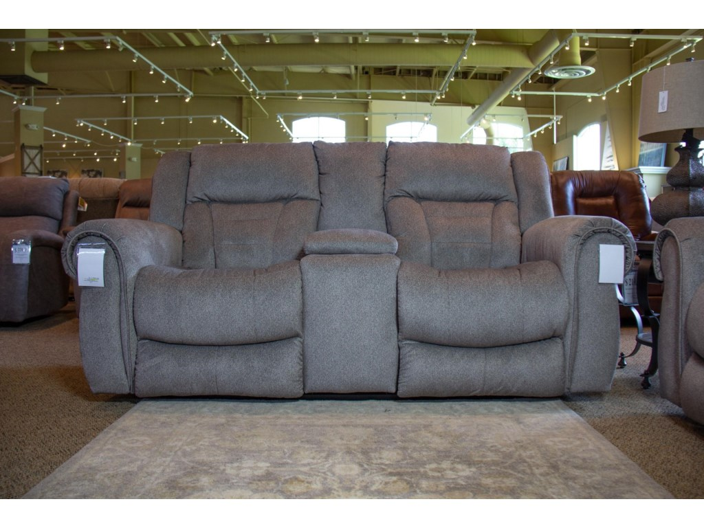 Southern Motion TitanTweed Reclining Console Loveseat
