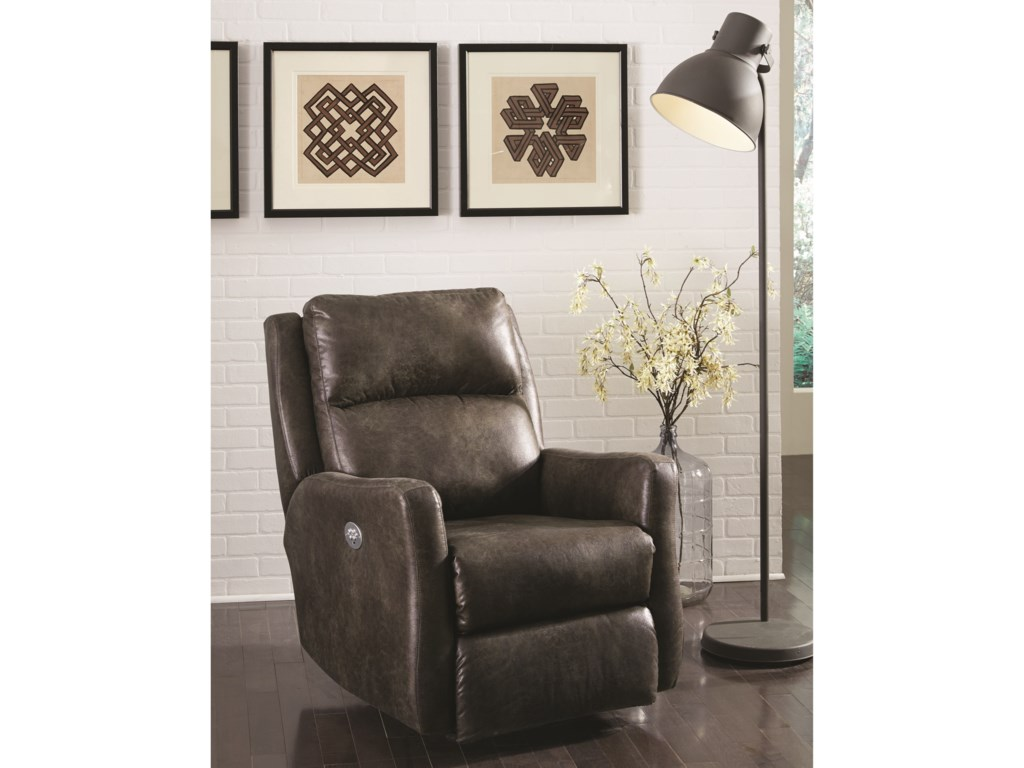 Southern Motion ReclinersTop Notch Wall Hugger with Power Headrest
