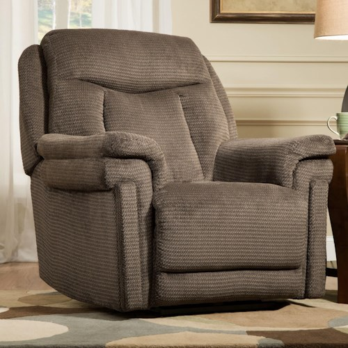 Southern Motion Recliners Masterpiece Headrest Layflat Recliner