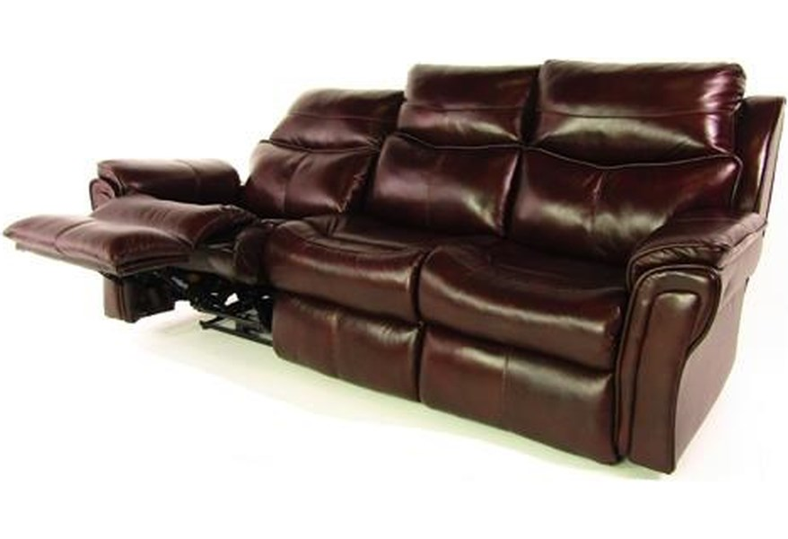 Sprintz Design 2 Recline Leather Sofa With Motion