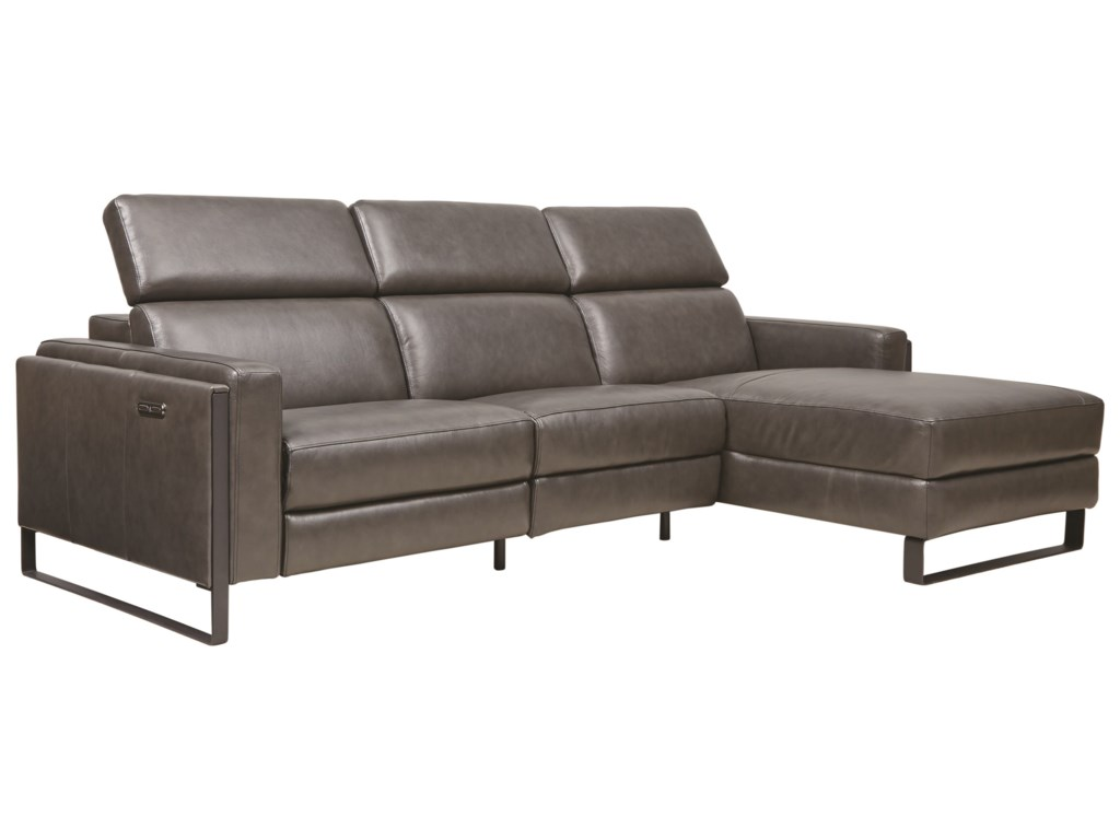 Southern Motion Starstruck3-Piece Chaise Sofa w/ Pwr Recliner