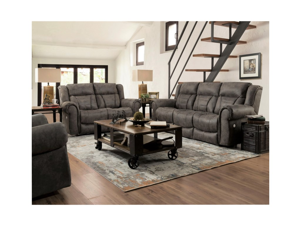 Southern Motion TitanDouble Reclining Sofa